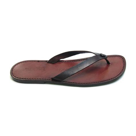 custom sandals brown leather thongs sandals for handmade
