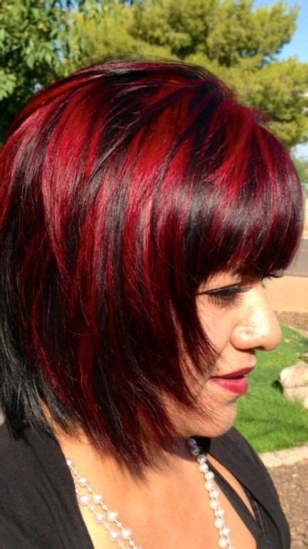 is hair chunking in style red highlight chunks hair pinterest red highlights