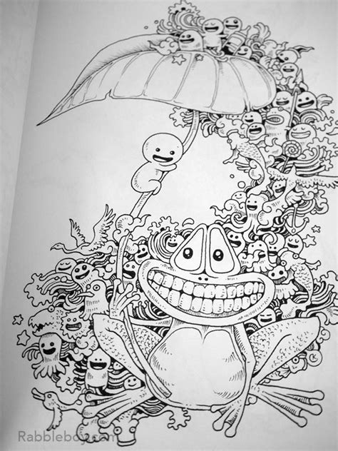 mini doodle colouring books p1100219 doodle a coloring book by kerby