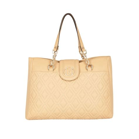 River Island Quilted Tote Bag by River Island Beige Quilted Chain Tote Bag In Beige
