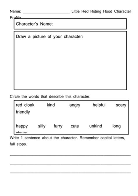 character description template ks1 character profile by ascott1
