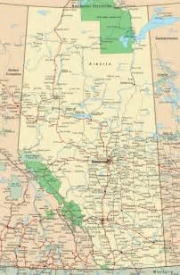 highway map of alberta canada alberta road map