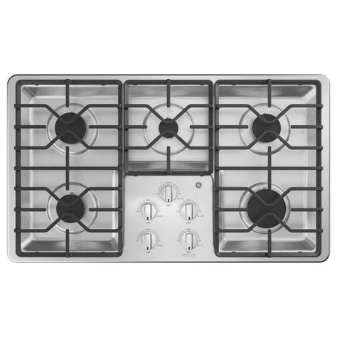 general electric gas cooktop ge 36 in 5 burner stainless steel gas cooktop common 36