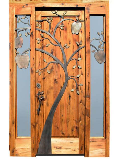 Handmade Wooden Doors - historical design handcrafted solid wood doors