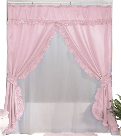 valance shower curtains walterdrake double swag shower curtains with valance ebay