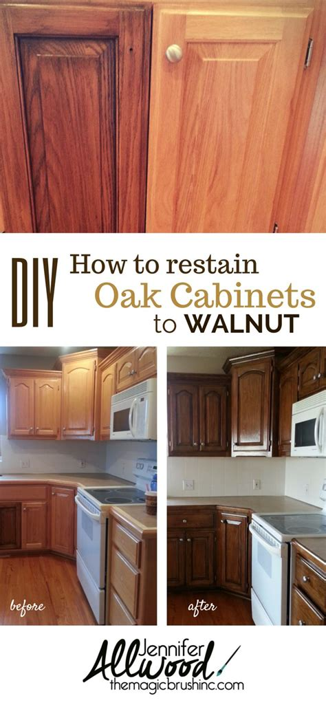 how to stain oak cabinets staining kitchen cabinets darker without sanding www
