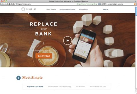 simple bank 50 of the most spectacular website designs in banking