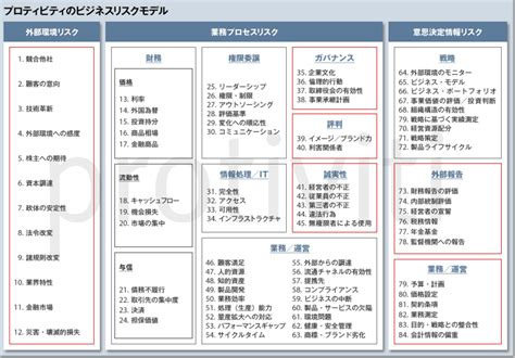 commercial risk model プロティビティのビジネスリスクモデル protiviti japan