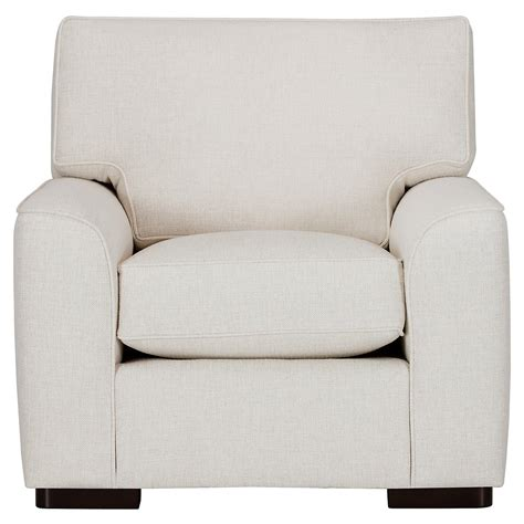 White Fabric Chair by City Furniture White Fabric Chair