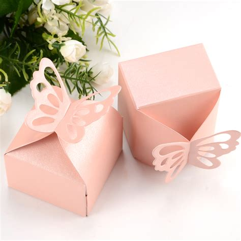 wedding gift boxes uk 50 x butterfly wedding favour boxes gift boxes ebay