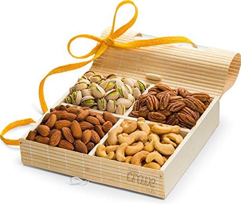 christmas holiday gourmet food baskets nuts gift basket mixed nuts 7 different nuts five star gift baskets gift tray 4 sectional nuts gift box with stunning presentation gourmet gift