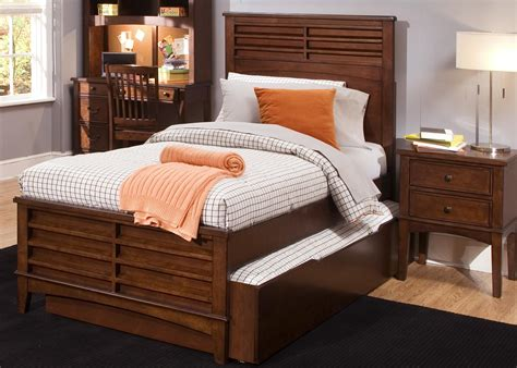 full bed with trundle and storage full size panel bed with trundle storage drawer by liberty