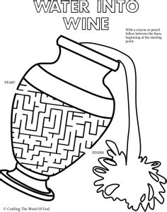 coloring pages jesus turns water to wine nt crafts 171 crafting the word of god
