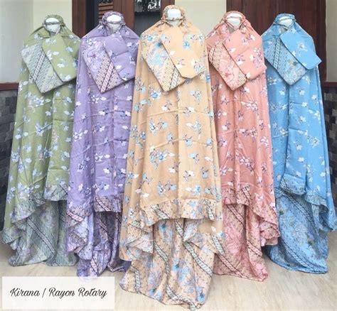 Mukena Rotari mukena batik printing mukena pelangi