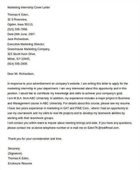 .brand marketing internship cover letter tehnolife