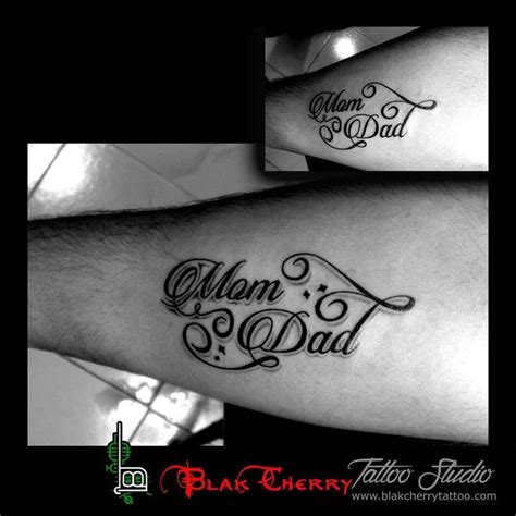 mom and dad wrist tattoos and