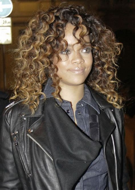 curly hair perms for african americans rihanna long curly hairstyle for black women hairstyles