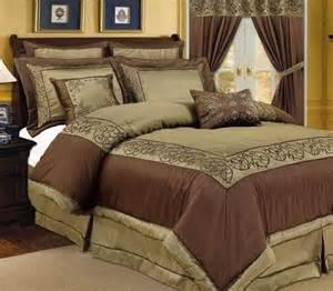 Chocolate Brown Bedding Sets Pc Vana Green Chocolate Brown Comforter Bedding Set
