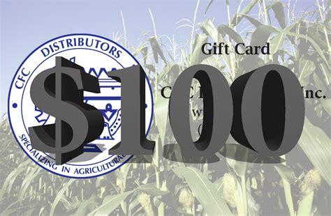 Cfc Gift Card - cfc distributors inc gift card 100 value
