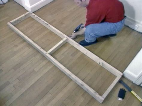 how to build a cabinet base frame how to build window seat from wall cabinets how tos diy