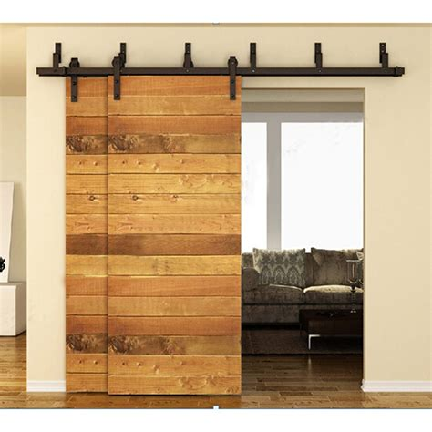 Interior Sliding Barn Doors Hardware Aliexpress Buy 183cm 200cm 244cm Bypass Sliding Barn Wood Door Hardware Interior