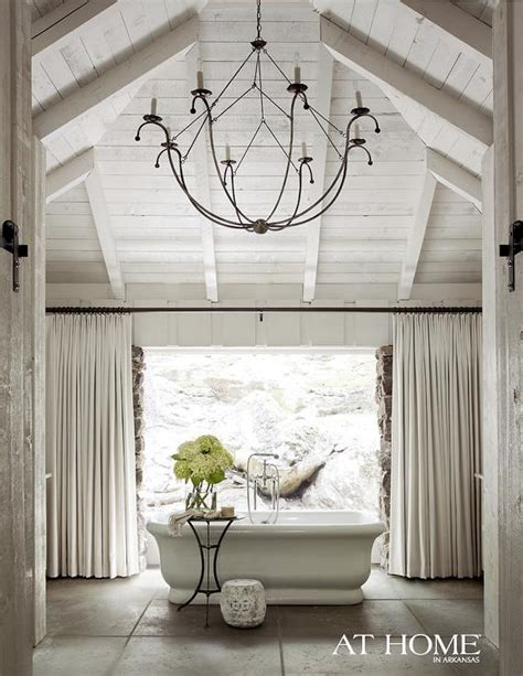 How To Clean Chandeliers On High Ceiling Empire Freestanding Rectangular Tub Country Bathroom