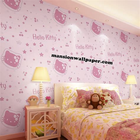 wallpaper dinding anak muda jual wallpaper dinding anak hello kitty mansion