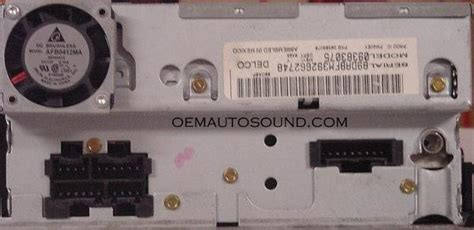 Chevrolet Gm Radio Cd 09383075 15764358 Delco Electronics