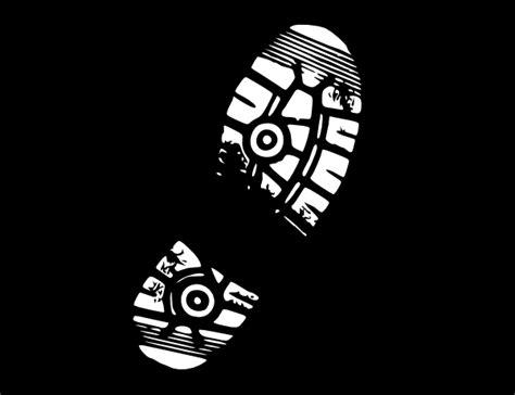 running shoe print vector running shoe print clip at clker vector clip