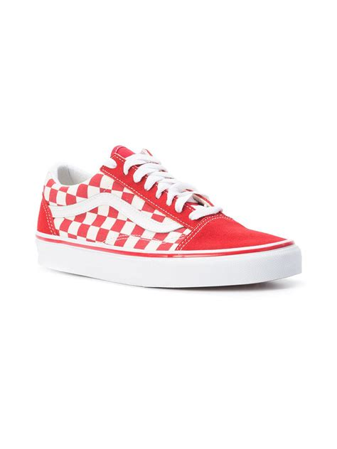 checkered sneakers vans checkered lace up sneakers in for lyst