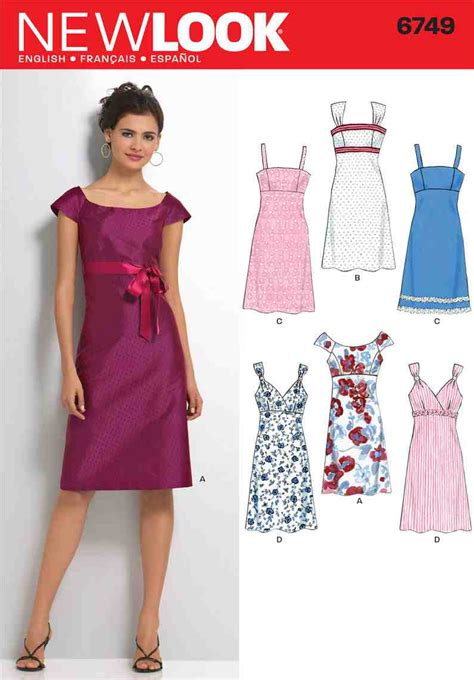 new pattern dress images new look 6749 sewing pattern smart shift dress strap