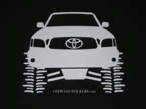 Toyota Decals Toyota Tacoma Flexing Trd Lifted Rock Crawler Sticker