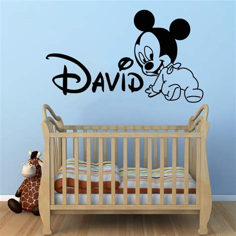 Luminous Sticker Stickers Stiker Karakter Big 6 Baymax Bay J71e creative new diy mickey mouse custom name baby wall stickers for rooms home