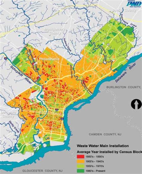 map united states showing philadelphia water projects pipeline civil structural engineer magazine