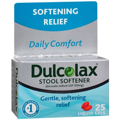 dulcolax stool softener liquid gels to relieve