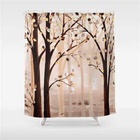 black and cream bathroom accessories unique shower curtain brown beige abstract by