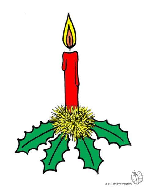 candela accesa disegno di candela di natale a colori per bambini