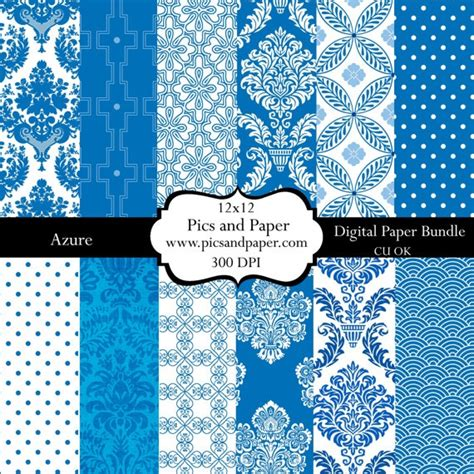 Paper Crafts And Scrapbooking - digital scrapbooking paper royal blue and white 12x12