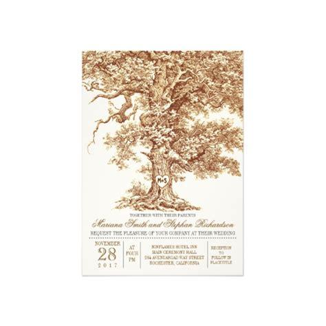 brown wedding invitations oak tree brown wedding invitation luxury