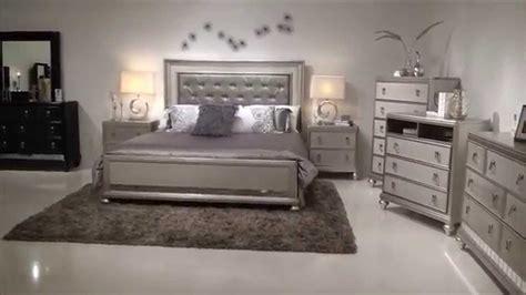 samuel lawrence diva bedroom group  upholstered headboad bling home gallery stores youtube