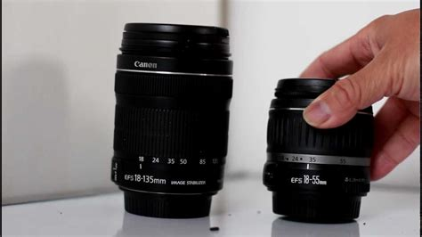 compare review canon 18 55mm vs 18 135mm f3 5 5 6 kit lens for t4i 650d kit part i
