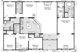 5 bedroom manufactured home floor plans triple wide mobile home floor plans las brisas floorplan