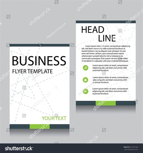 front page design template vector brochure flyer design layout template stock vector
