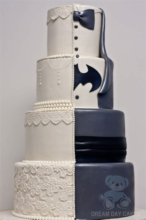 Hochzeitstorte Batman by Batman Wedding Cake With Lace Day Cakes