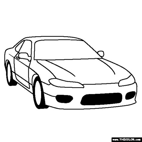 nissan skyline colouring pages