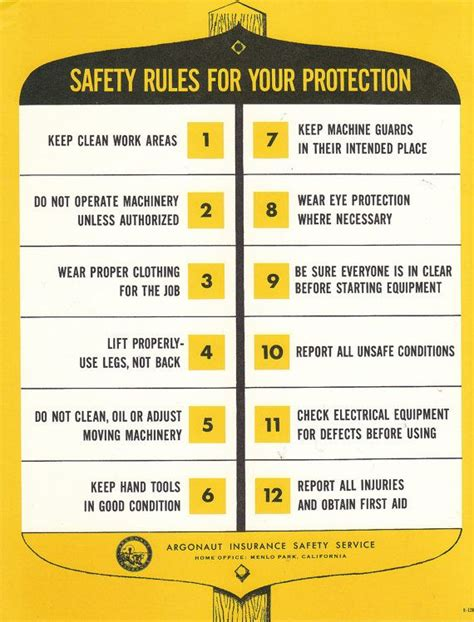8 Safety Tips For by Vintage Safety Poster Safety For Your Protection