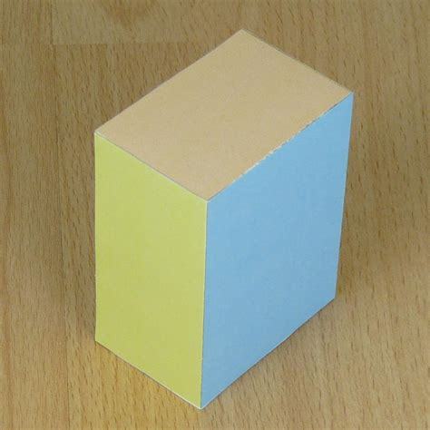 How To Make A Cuboid With Paper - paper rectangular prism cuboid