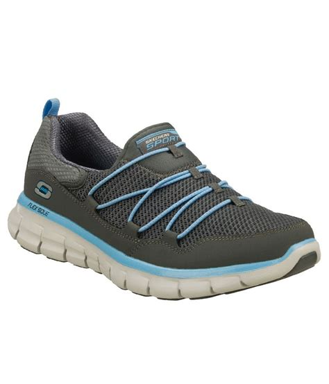 skechers sports shoes india skechers charcoal light blue synergy loving sports