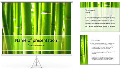 Bamboo Powerpoint Template Backgrounds Id 0000005369 Smiletemplates Com Bamboo Powerpoint Template