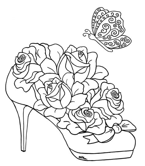 roses and hearts coloring pages coloring home